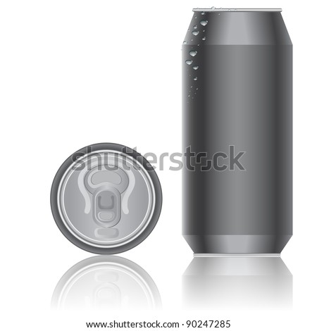 Aluminum packaging for beverages. Vector. - stock vector