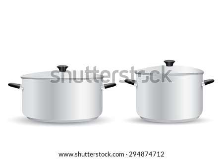 Aluminum Pot - stock vector