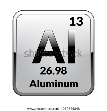 Aluminum symbolchemical element periodic table on stock vector aluminum symbolchemical element periodic table on stock vector 1012646848 shutterstock urtaz Gallery