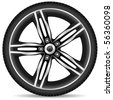 Aluminum wheel - vector illustration - stock photo