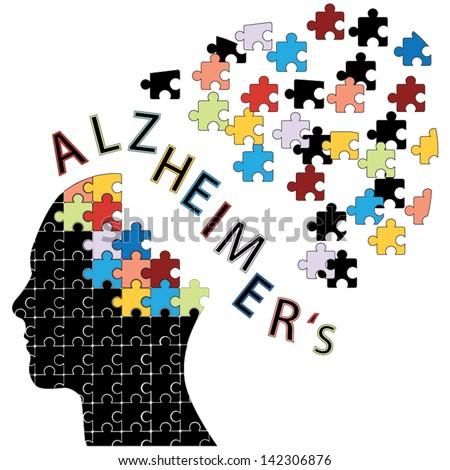 Alzheimer's disease concept vector - stock vector
