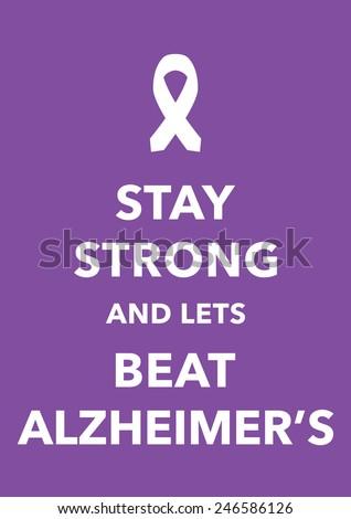 alzheimer's posters - stock vector