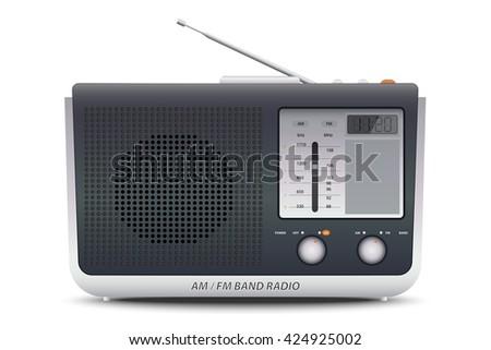 AM FM Band Radio - stock vector