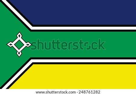 Amapa, Brazil, vector flag isolated on white background. High detailed illustration. Original Amapa flag isolated vector in official colors and Proportion Correctly - stock vector