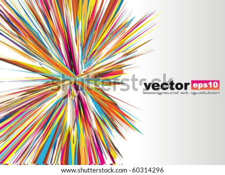 Amazing Rainbow Stars Background for Business Stylish Flyers - stock vector