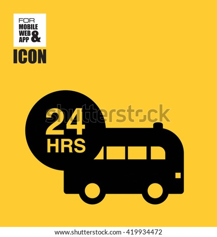 Ambulance assistance-24-hours icon - stock vector