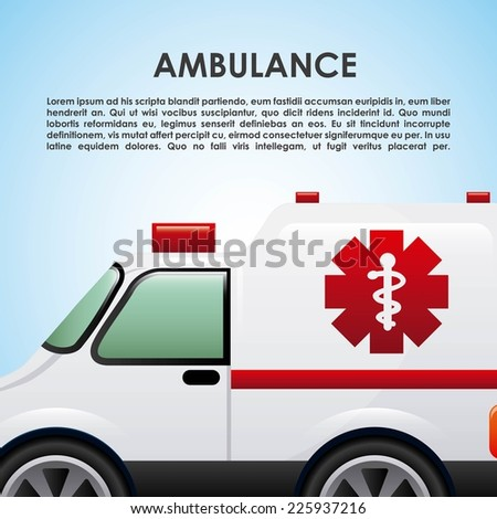 ambulance graphic design , vector illustration - stock vector