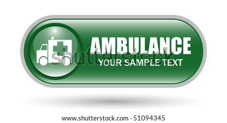 Ambulance Sign Icon with Copy Space