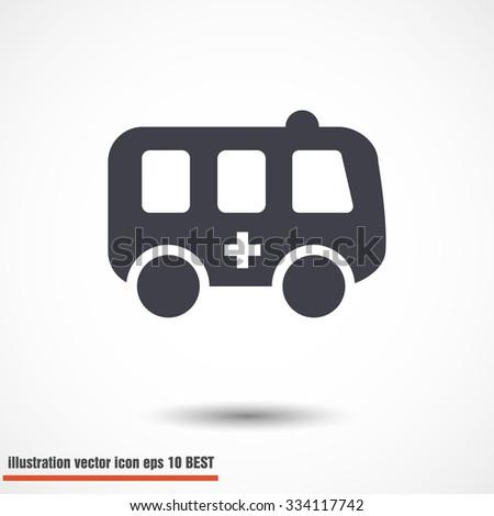 ambulance. vector icon 10 EPS - stock vector