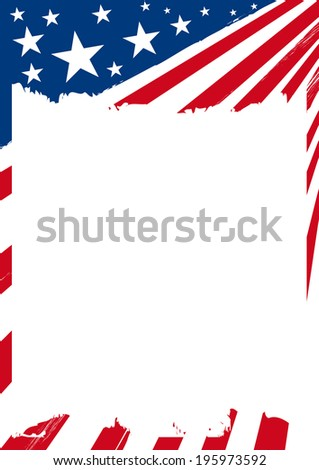 America. An american background with a frame for you.  - stock vector