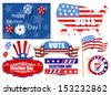 America Election Day Vector Illustration Set - stock vector