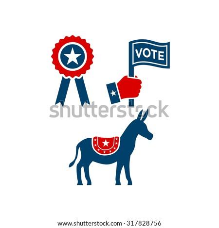America Election Logo Template - stock vector