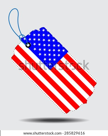 America flag and sale tags.Vectors
