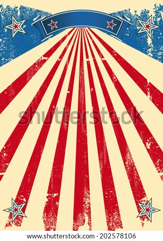America scratched background. A vintage fifties background for a patriotic poster