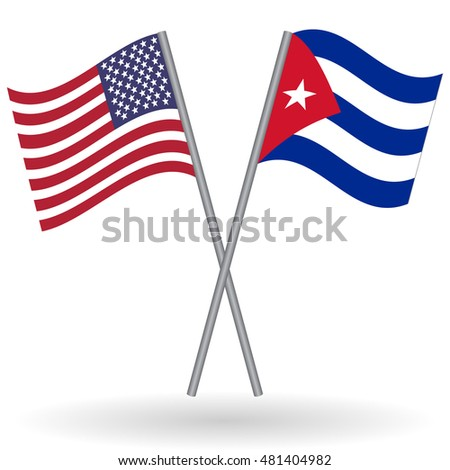 American and Cuban flags American flag, United States flag, flag of United States of America Cuban flag, Cuba flag, flag of Cuba USA vs Cuba Flags of world, flags of nations, flag football flag vector