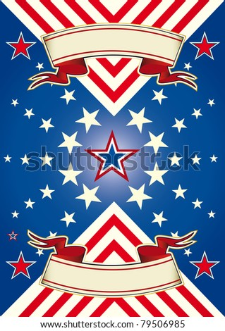 American background with stars. A background for your advertising. - stock vector
