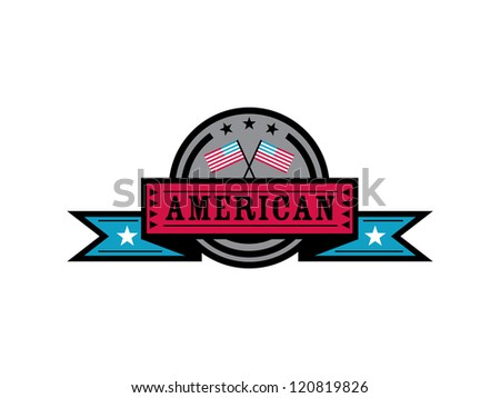 American Badge. - stock vector