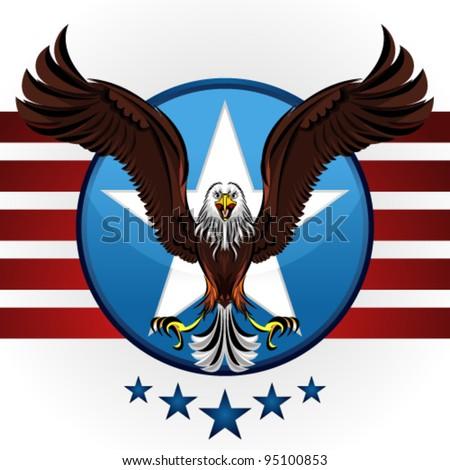 American Bald Eagle - stock vector