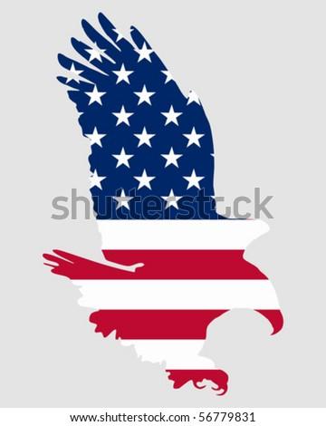 American bold eagle - stock vector