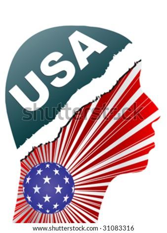 american citizen vector illustration - stock vector
