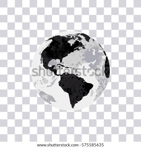 American continent isolated on transparent background stock vector american continent isolated on transparent background earth globe monochrome world map vector illustration gumiabroncs Images