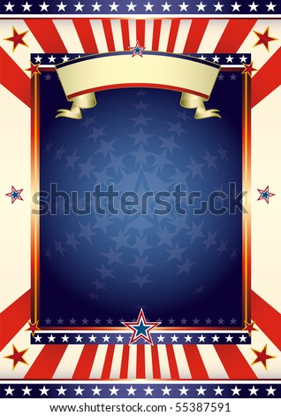 American cool flag. An american background for your advertising. - stock vector