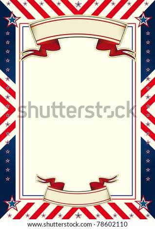 American cool poster. A certificate on the american theme. - stock vector