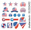 american design set - independence day - stock photo