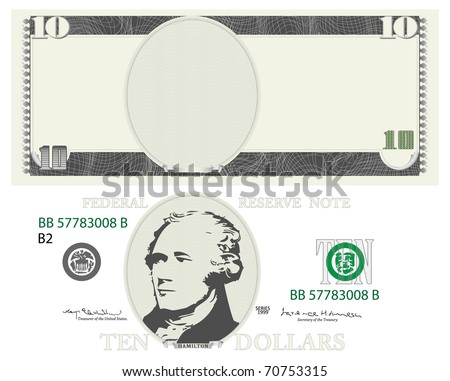 american dollar - stock vector