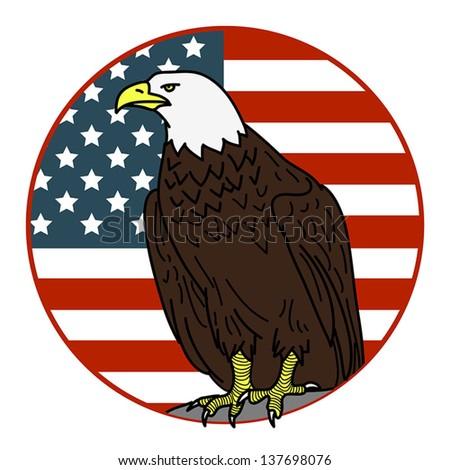 American eagle emblem vector illustration stock vector