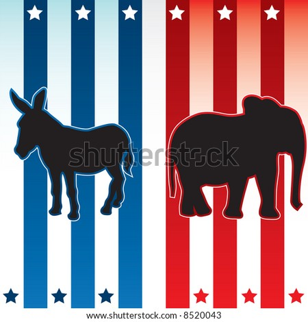 American election vector illustration - stock vector