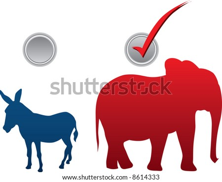 American election vector illustration - republican win - stock vector