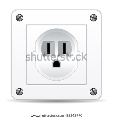 American electric plug isolated over white background