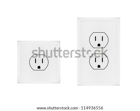 American electrical outlet - stock vector