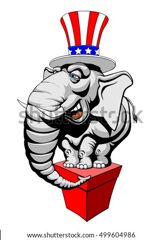 American elephant symbol of the Republicans