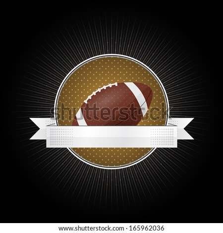 American Emblem for football with ribbon for your text