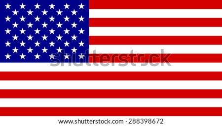 American flag - stock vector