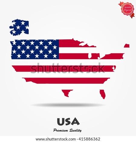 American flag. American flag Vector. American flag Art. USA flag eps. USA flag Image. USA flag logo. USA flag Sign. USA flag Flat. USA flag app. USA flag USA flag web. - stock vector