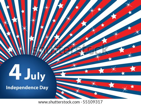 American flag background colors with stars and stripes symbolizing 4th july independence day. Raster also available. - stock vector