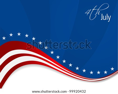 American flag background for Independence Day and other events. EPS 10. Vector illustration. - stock vector