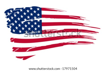 American flag background fully editable vector illustration - stock vector