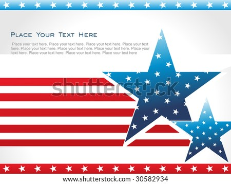 american flag background with set of stars - stock vector