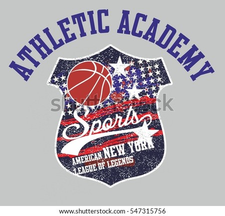 American Flag basketball graphic design vector art