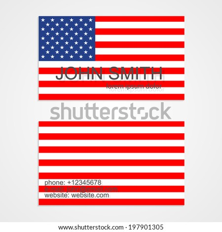 American flag business card template vector stock vector hd royalty american flag business card template vector illustration colourmoves