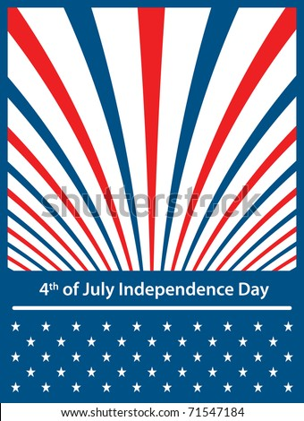 American flag colors with stars and stripes symbolizing 4th of july independence day. Raster also available. - stock vector
