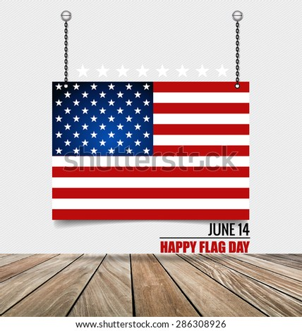 American Flag Day, 14 of June Flag Day. Vector illustration. - stock vector