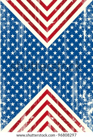 American flag distressed background. An american background with a grunge texture - stock vector