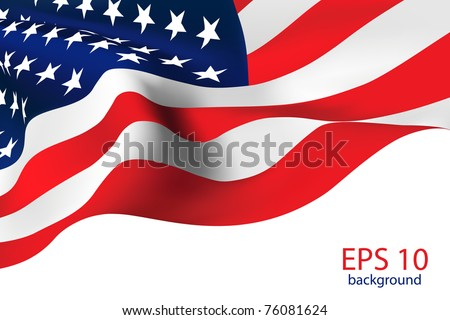 American Flag - Old Glory flag VECTOR - stock vector