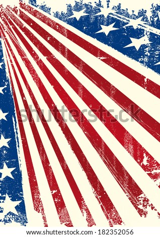 American flag poster. An american background for you.  - stock vector