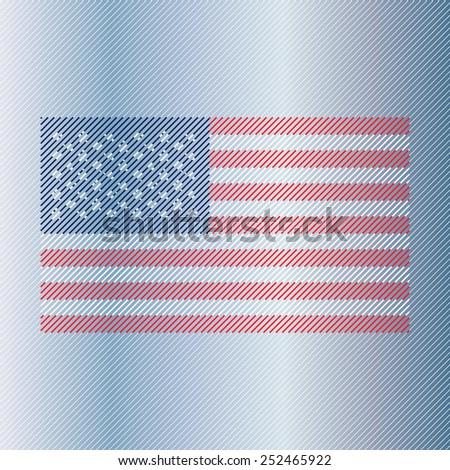 American flag Print Poster Apparel T shirt design. EPS 10 - stock vector